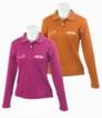 lady long sleeve polo shirt