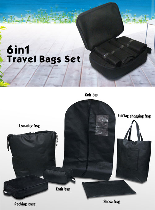 6in1 Travel bags set