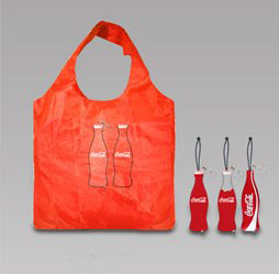 Coca Cola bottle - foldable shopping bag