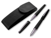 Ball pen in PU leather holder