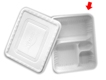 Quad Takeout Box with Cover